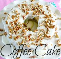 Coffee Cake with Powdered Sugar Frosting