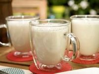 Frothy Hot White Chocolate with a dollop of whipped cream