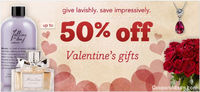 Valentine's Day shopping is reaching seventh sky with fabulous savings. Various in-store and online retailers are making gift giving super-enjoyable with a peck of hot Valentine's Day coupons. So, if you are wondering to treat someone this Lov...