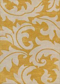 yellow and white floral rug