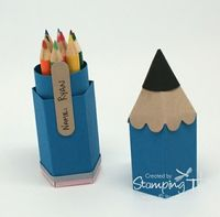 Stampin Up! Stamping T! - Mini Pencil Box Open