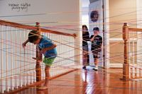 Super secret spy obstacle course using string!
