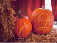 Writing on pumpkins?