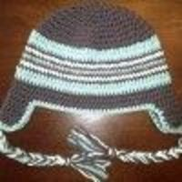 Adult Braided Ear Flap Hat | AllFreeCrochet.com
