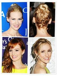 Look We Love: Peekaboo Braids. More easy hairstyle makeover ideas here: http://www.esalon.com/blog/7-no-risk-hair-makeovers/