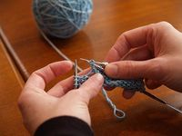 Great tutorial on how to work beads into your knitting without pre-stranding.