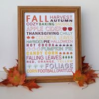 Free Printable: Fall Subway Art (8x10)