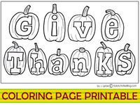 Coloring page printable for thanksgiving
