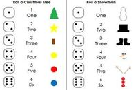 Dice Games (Roll a Christmas Tree and Roll a Snowman)