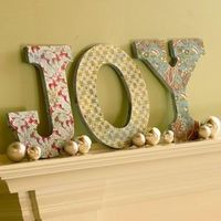 foam core letters covered with fabric or paper