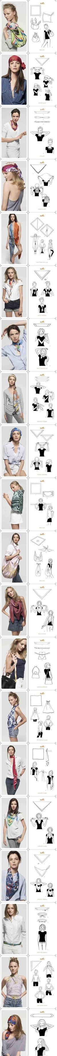 Different ways to use scarf!