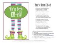 image about You've Been Elfed Free Printable known as Articles or blog posts very similar towards: Youve Been Elfed! Poem and Indicator - Juxtapost