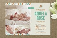 Khaki Baby Birth Announcements...Minted