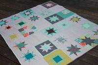 casual star quilt, love the randomness.