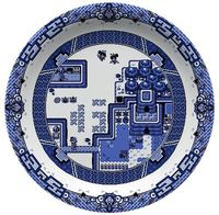 blue and white zelda plate Sara.....Wow!