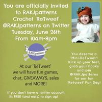 Anyone up for a Free Pattern Crochet 'Retweet'?