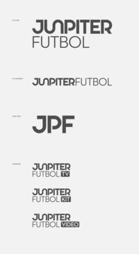 Jupiter Futbol by Bravo Company | #Typography #Branding #GraphicDesign