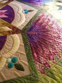 """I think this quilt is """"Zen Garden."""" Please leave a comment if you know what pattern it is."""