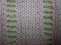 Open-ladder knitting stitch