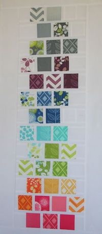 This is a nice way to feature favorite fabrics in a simple layout.