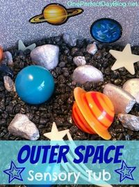 Outer space / solar system sensory tub