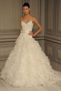 I love texture, bows and the bodice is beautiful- love the delicate straps.
