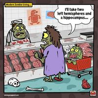 comic-modern zombie living by goopymart