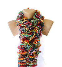 Knit Ruffled Scarf, multicolor scarf, 2013 NEW TREND SCARF,accessories, gifts for her, fashion, long scarf
