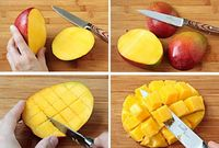 how to dice a mango