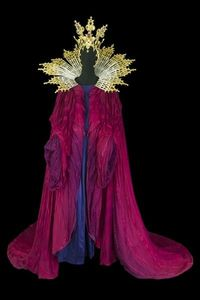 """Costume for Judith, Bluebeard's Wife, in the """"To Costume Power"""" exhibit at the Centre national du costume de scène"""", Moulins, France, Jan-May 2013."""