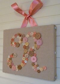 Your Baby's Monogram in Buttons on 8x10 by letterperfectdesigns
