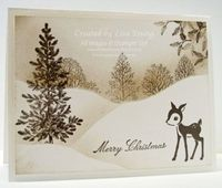 Stampin' Up! - Lovely as a Tree, love this in the sepia tones