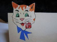 1920's Art Deco Die Cut french place card whimsical by puffadonna, $18.00
