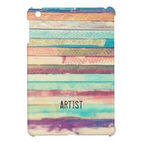 Stacked Happiness iPad Mini Case. Customize this case by replacing the text.