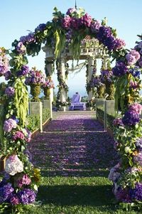 Gorgeous flowers in shades of lavender and purple