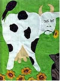 Dora's cow from A Day in the County quilt class
