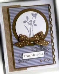 Me, My Stamps and I: Just Believe-Stamps: Just Believe Paper: Wisteria Wonder, Soft Suede, Whisper White, Pattern DSP Ink: Soft Suede, Wisteria Wonder Accessories: polka dot ribbon, pearls Tools: scallop trim border, circle dies, dimensionals