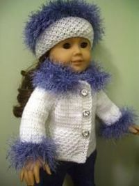 """Knitting Pattern to fit American Girl 18"""" Doll"""