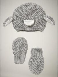 how can i NOT buy this for both of my kids. penguin hat & mitten set. O.M.G.