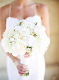All white bouquet with loads of texture.