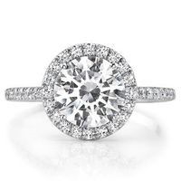 Stunning Round Cut Diamond in Vintage Pave Halo Setting #rings #ring #wedding #engagement