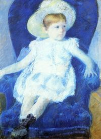 Mary Cassatt, Elsie in a Blue Chair, 1880