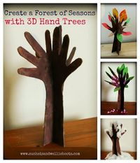 create a hand tree and each season add and take away according to the changes