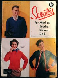 Added the Free Vintage Knitting Pattern to the blog! Star Sweater Book no.110