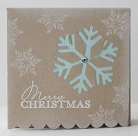 Snowflake cut out card.