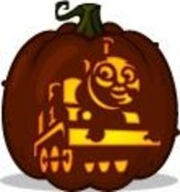 Juxtapost for Thomas pumpkin template
