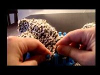 Loom Knit - Easy mittens on a loom part 3