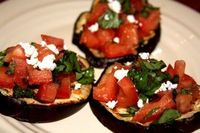 Eggplant Bruschetta- so delicious!