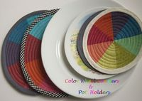 Color Wheel Coasters and Pot Holders Sewing Pattern. $10.00, via Etsy.