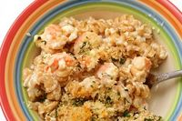 Feta and Shrimp Macaroni and Cheese